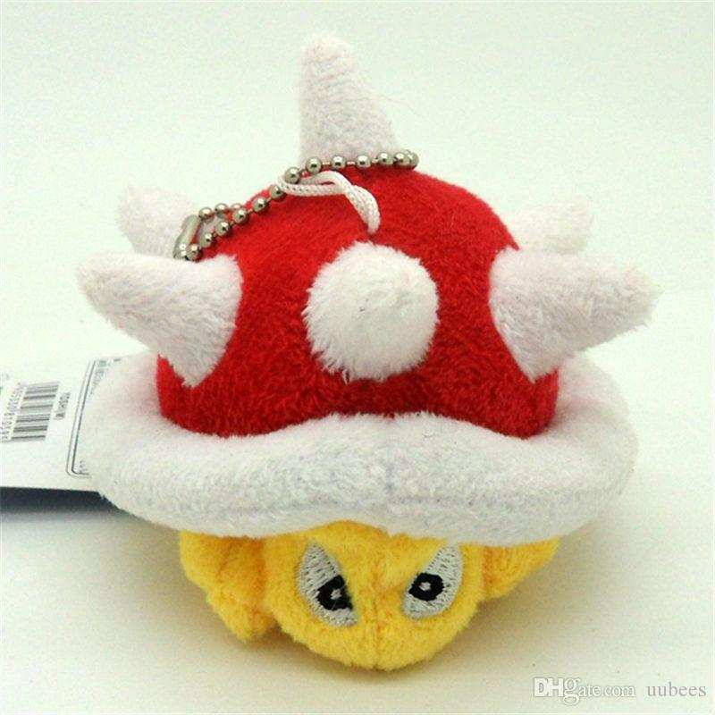EMS Super Mario Bros Spiny Koopa Turtle 9CM Plush Doll Stuffed Pendant Best Gift Soft Toy