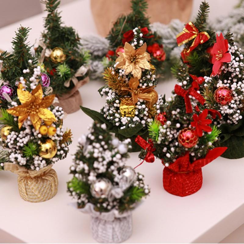 2018 Christmas Tree Small Pine Tree Mini Trees Placed In The Desktop