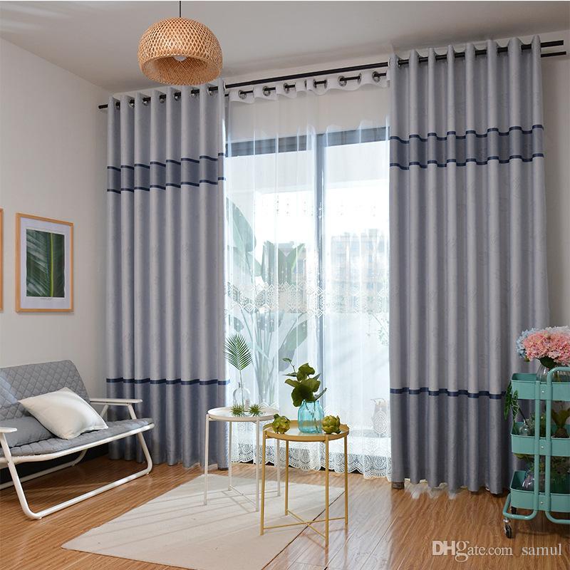 Cation Jacquard Tuch Blackout Vorhang Wohnzimmer Schatten Tuch Vorhang  Stoff Vorhang