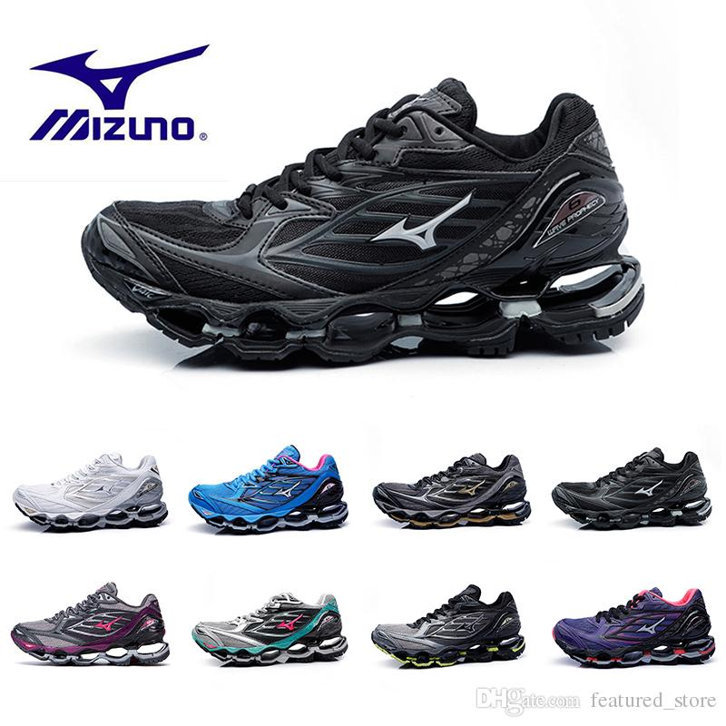 Mizuno WAVE PROPHECY 6 Running Shoes Classic Black Silver Mens Designer  Authentic Sports Women Original High QualityTrainers Sneakers Shoes Best  Running ... 2272456c36