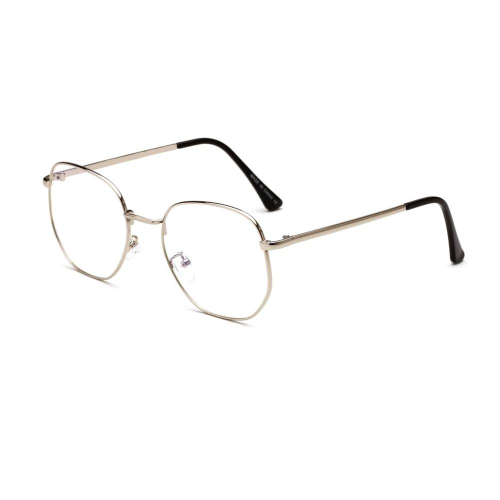 Women Myopic Glasses Frame Cat Eye Eyeglasses Vintage Half Frame Metal Eyewear Frames Prescription Optical Myopia Computer Glass