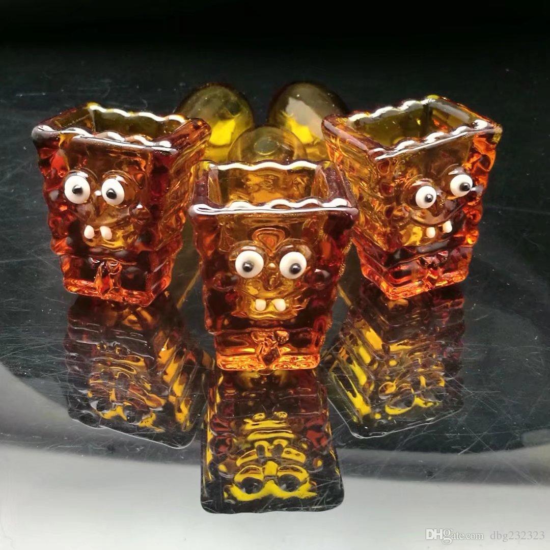 pipe en verre ambré baril bangs verre en gros brûleur à huile en verre Tubes de tuyaux d'eau Rigs, huile.