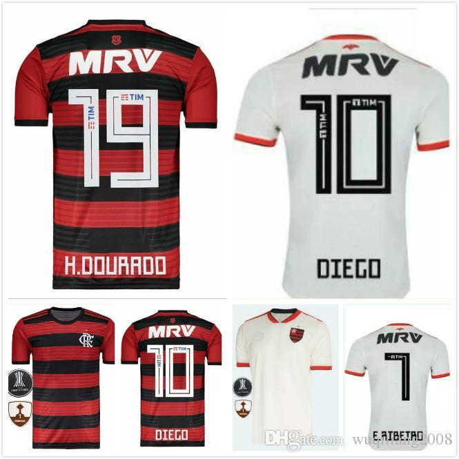 Nuevo Estilo De Primera Calidad 2018 CR Flamengo Camisetas De Fútbol 18 19  Flamenco Camisetas Futbol Camisa De Futebol Maillot De Fútbol Camisetas  Uniformes ... 80613d4f21b47