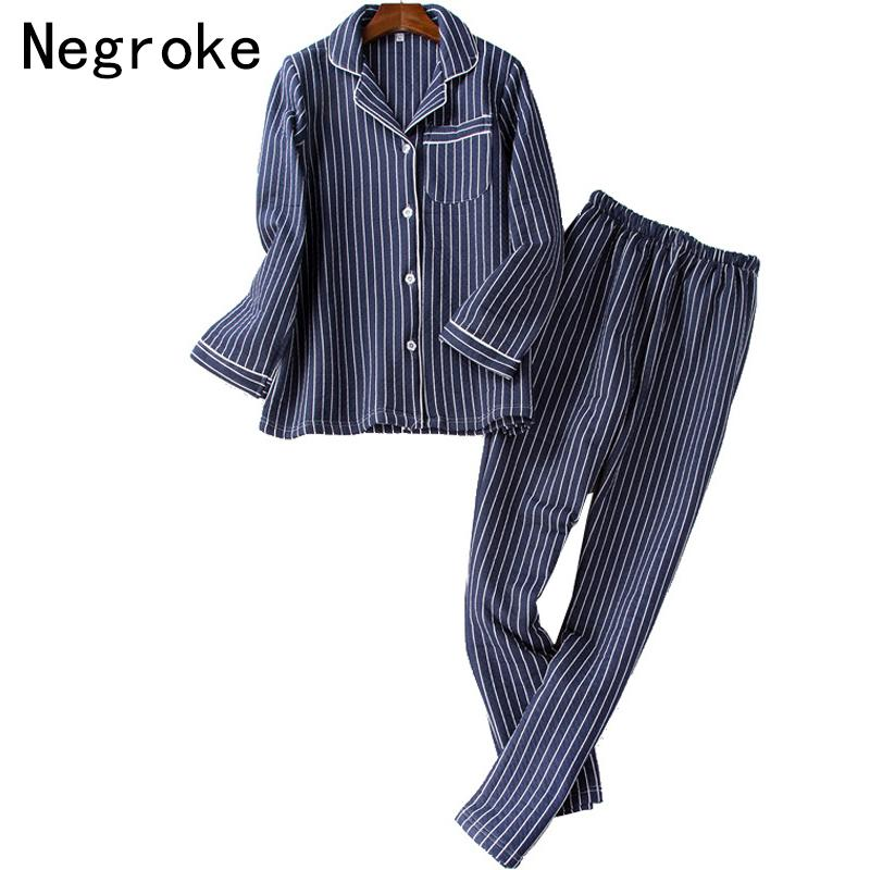 7826b2fc4a 2019 Striped Pajamas For Men Winter Cotton Home Clothes High Quality Male  Pyjama Set Pijama Hombre Night Wear Sleepwear Suit From Odelettu