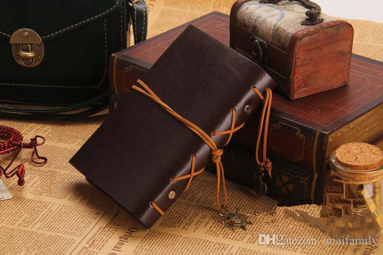 Vintage Deri Seyahat Dergisi Dizüstü Çapa Dümen Dekorasyon Dizüstü DHL Ücretsiz Kargo