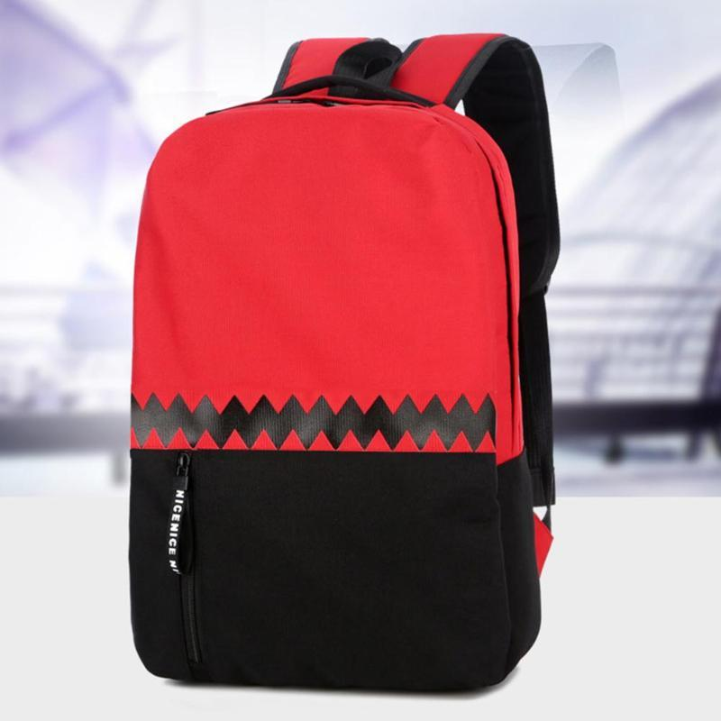 c36c5f1013c9 Men Laptop Bag Large Capacity Oxford Cloth Backpack Male Shoulder Bags  Student School Bag Splicing Color Travel Rucksack Book Bags Herschel  Backpacks From ...
