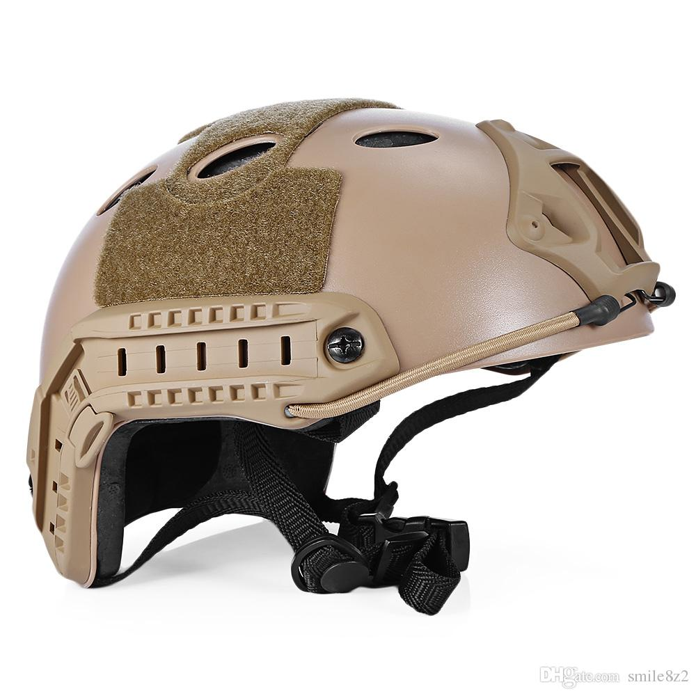 Lightweight Tactical Crashworthy Protective Helmet Head Protector Face Mask  Outdoor Cycling Helmets for CS Paintball Game