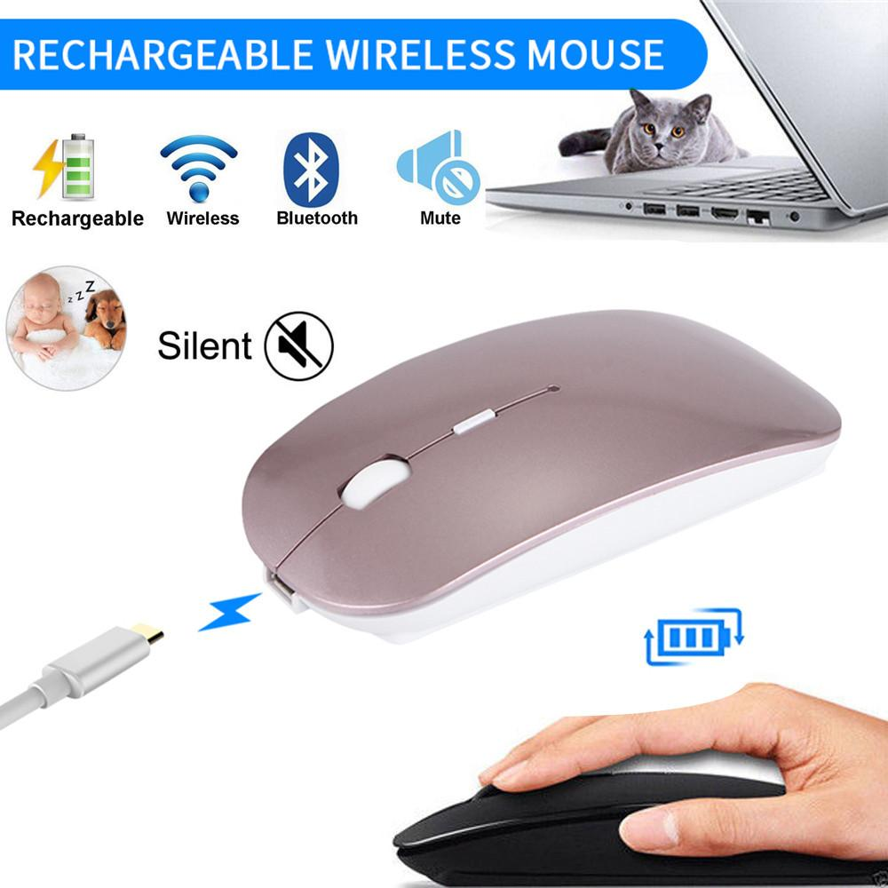d9c30d4e8b0 2019 Wireless Mouse For PC Laptop Android Tablet 4 Bottons Slim Silent Mate  Rechargeable Bluetooth Wireless Mouse Mice L929#2 From Soilian, $28.85 |  DHgate.