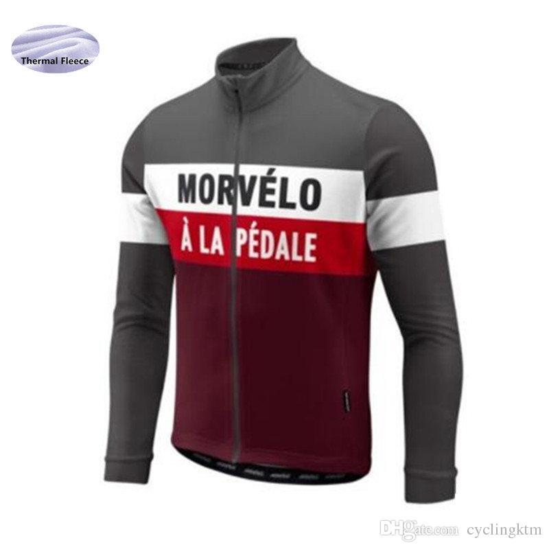 Winter Thermal Fleece Cycling Jersey Men Clothing Long Sleeve Bike ... 69c0e5963