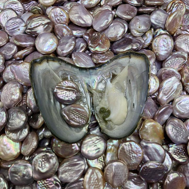 NEW Twins 10-15MM 2 Buttons Coin Pearls In Freshwater Oyster Shell Mix Colors Loose Pearls For DIY Making Bracelet Necklace Jewelry Gift