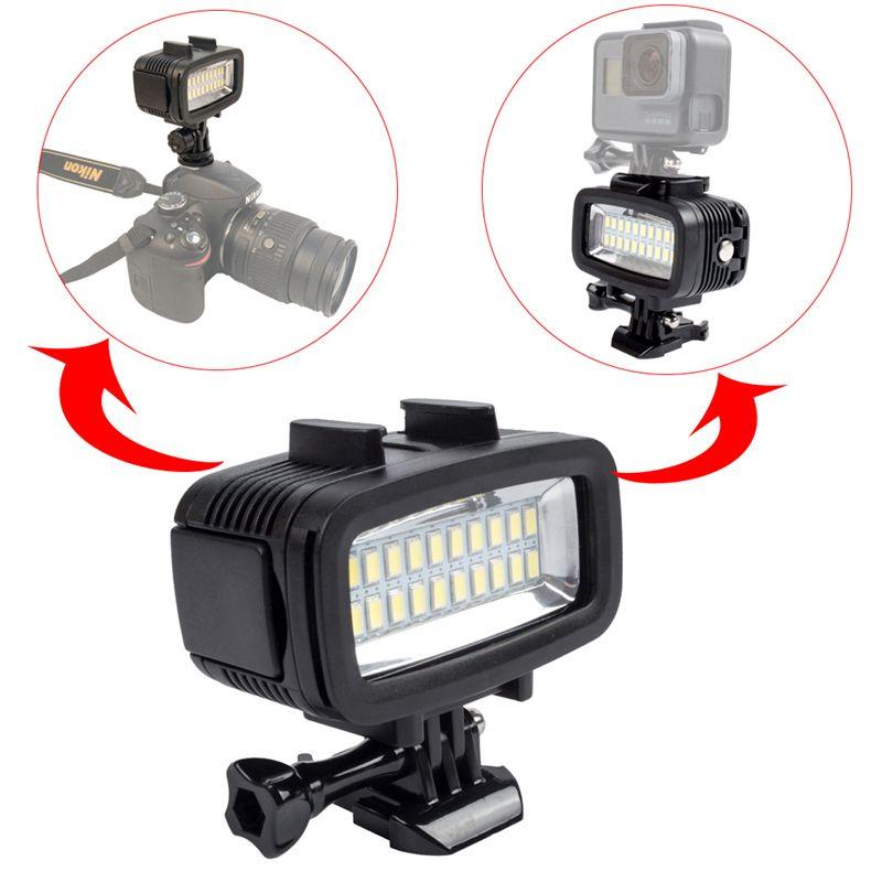 Sport Camera Underwater Light 40m Diving Waterproof Video LED-8 for Hero 6/5 DSLR3 Di fill light