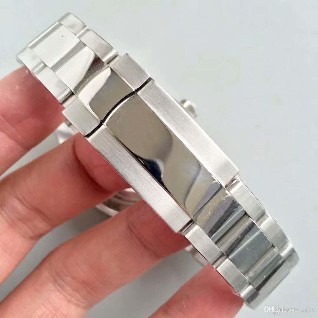 AAtop Luxusmarke 116509 Edelstahl automatische mechanische männliche Uhr, Keramikring Mund, super Nachtlicht, Herren Sport Luxusuhr