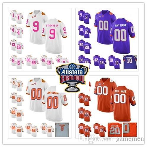 wholesale dealer 3fd21 c1c6d Custom Clemson Tigers jerseys mens youth Brian Dawkins jersey orange White  kids ncaa College Football Jerseys Embroidery stitched jerseys