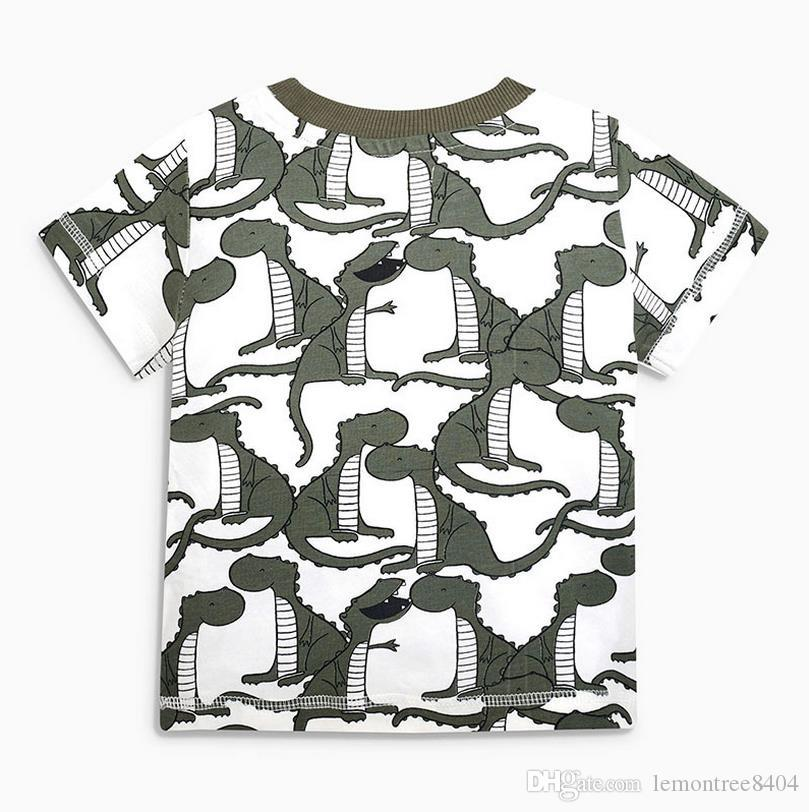 Dinosaur baby children clothes china kids boys clothes tiger toddler summer short clothing sets classic suit for boy toddler child suits