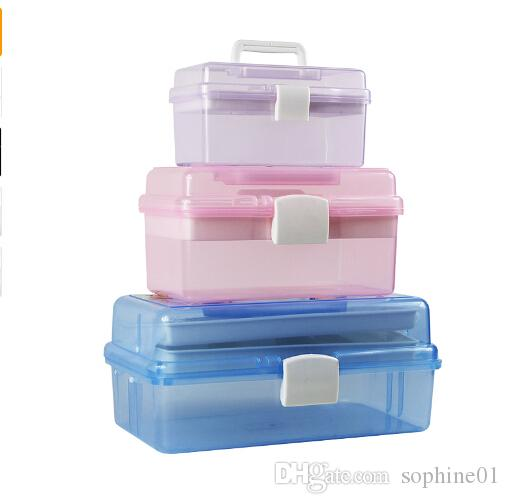 Nail Desktop Storage Box Plastic Scissors Makeup Tools Jewelry Nail