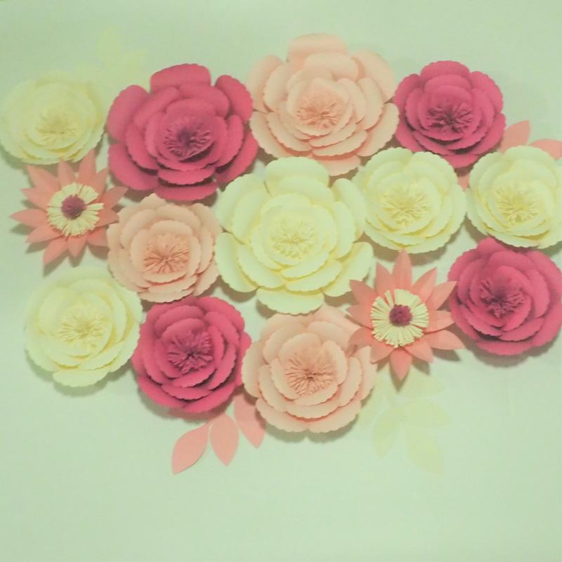 2018 craft supplies artificial flowers paper flower wall for wedding 2018 craft supplies artificial flowers paper flower wall for wedding party decorations baby home deco fake flowers 2 different sets options from mightylinksfo