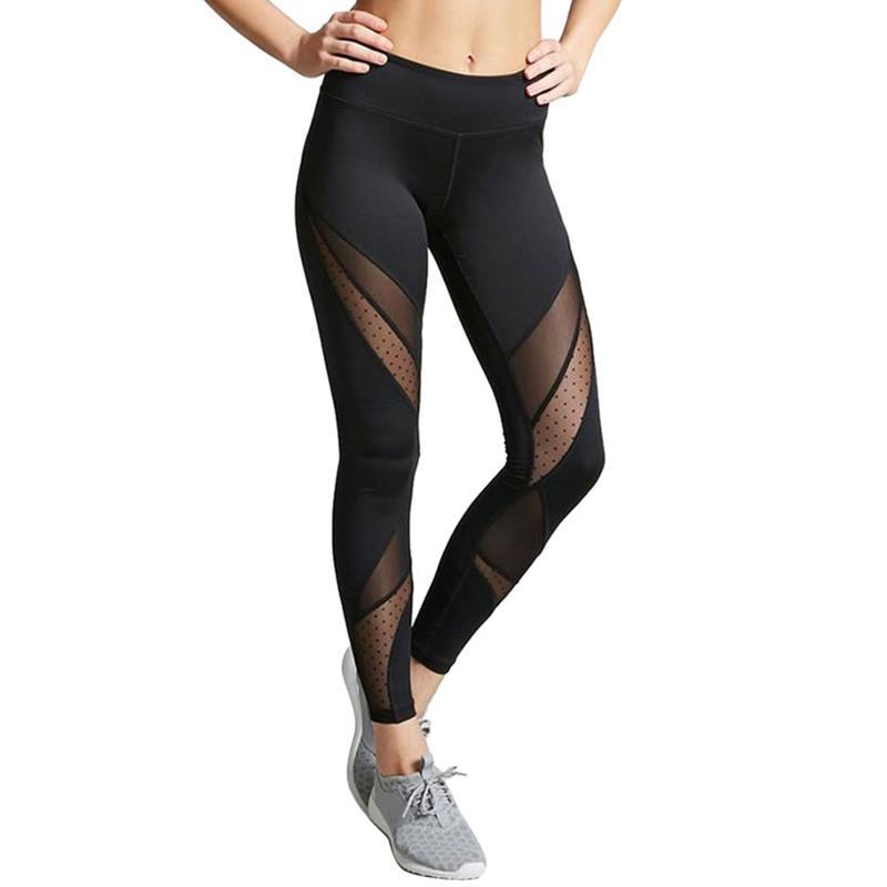 Acheter Femmes Sport Leggings Fitness Yoga Pantalon Noir Blanc Leggings  Athlétiques Sport Serré Mallas Mujer Deportivas Gym Vêtements De Course De   20.77 Du ... a495d208f4c