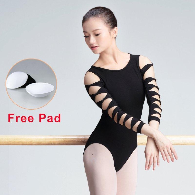 87ec6654c 2019 Girls Ballerina Ballet Leotards Black Gymnastics Leotards ...