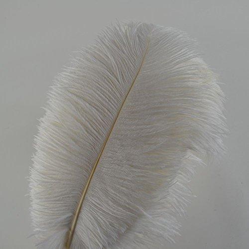 Plumas de avestruz 12-14 pulgadas 30-35 cm para decoración de la boda en casa plumas decoración del partido 10 unids / lote