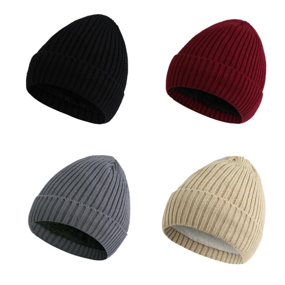Winter Fleece Lined Beanie Hat Thick Cap Women cap Men Hat Bomber Hats  Cheap Bomber Hats Winter Fleece Lined Beanie Hat Thick Online with   38.61 Piece on ... 7716cbebe30