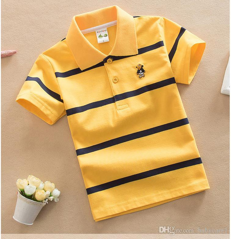 9ea8f9c310 2018 Fashion Summer Kids Boy Polos Short Shirt Tops Cotton Polo ...