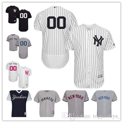 2019 2018 Custom Men Women Youth NY Yankees Jersey Personalized  00 Any  Your Name And Number Home Black White Grey Baseball Jerseys From Deem 44a986f3af0