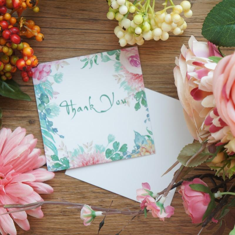 mini thank you card life green plant style leave message cards lucky