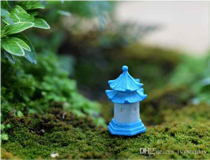Korean Castle Tower Ornament Mini Pavilion Moss Terrarium Ecological Bottle Accessories Micro Landscape Fairy Garden DIY Material ZAKKA