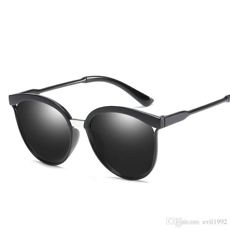 55a8a87e9b EL MalusNew UV400 Cat Eye Frame Sunglasses Women Retro Brand ...