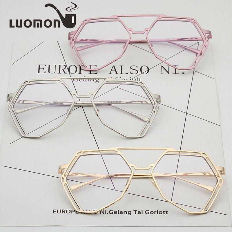 8687a03eb71 2019 LUOMON Vintage Women Eye Glasses Frames Plain Mirror Clear Lens  Harajuku Metal Irregular Frame Glasses Gafas Feminino Masculino From  Exyingtao