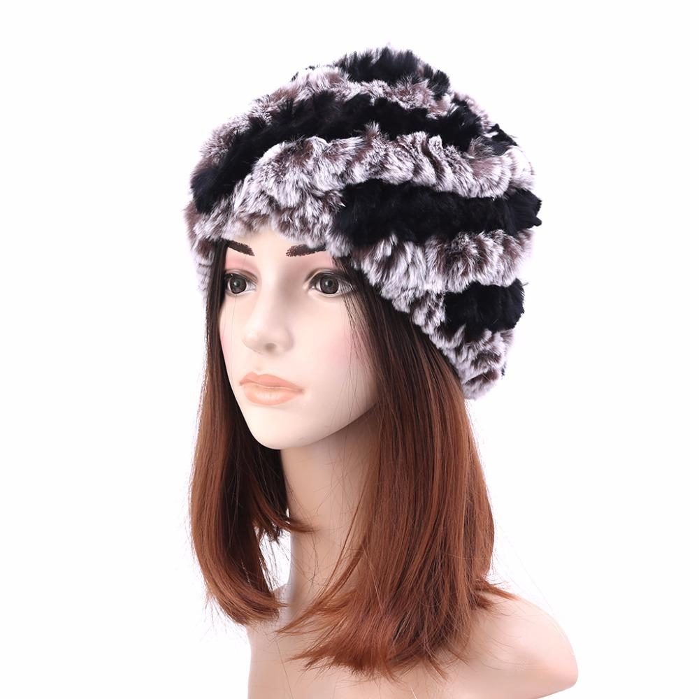 2019 Russian Winter Hats For Women Ladies Rabbit Fur Beanies Large Warm  Knitted Hat New From Bdsports fb12c4d5161