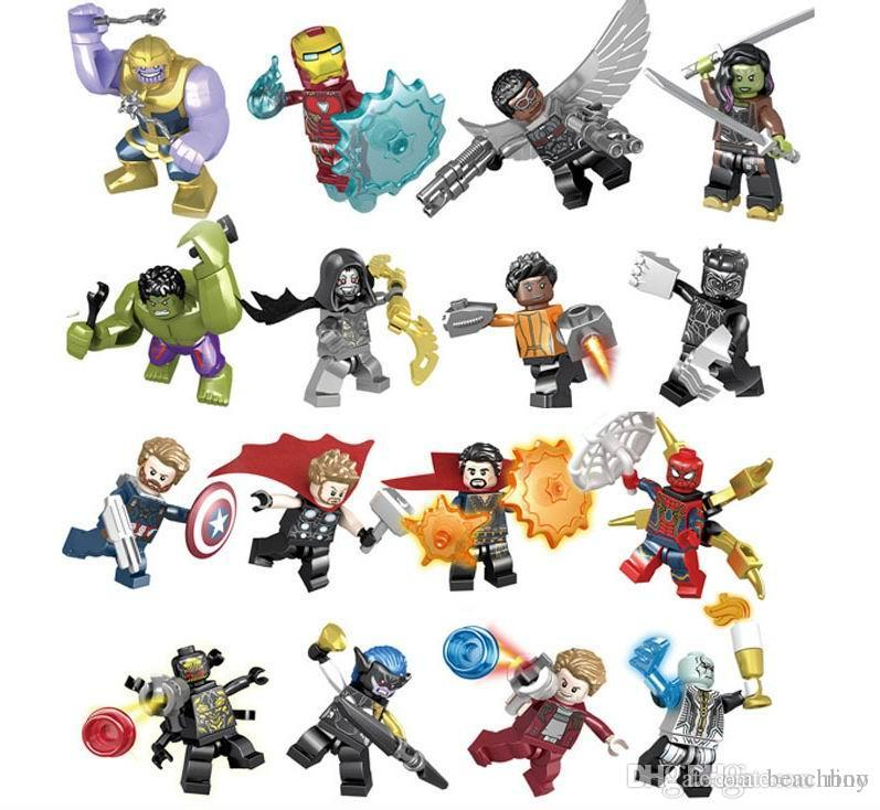 Marvel building blocks Sets Avengers Infinity War Mini Super Hero Superhero Thor Hulk Captain America Figures Building Blocks Toys