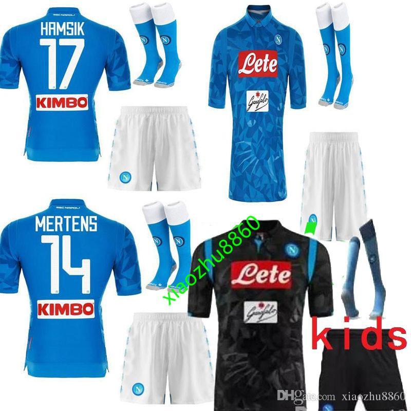 4e32ef27c Napoli Soccer Jersey Kits Mens KIDS Home Away HAMSIK MERTENS MILIK L ...