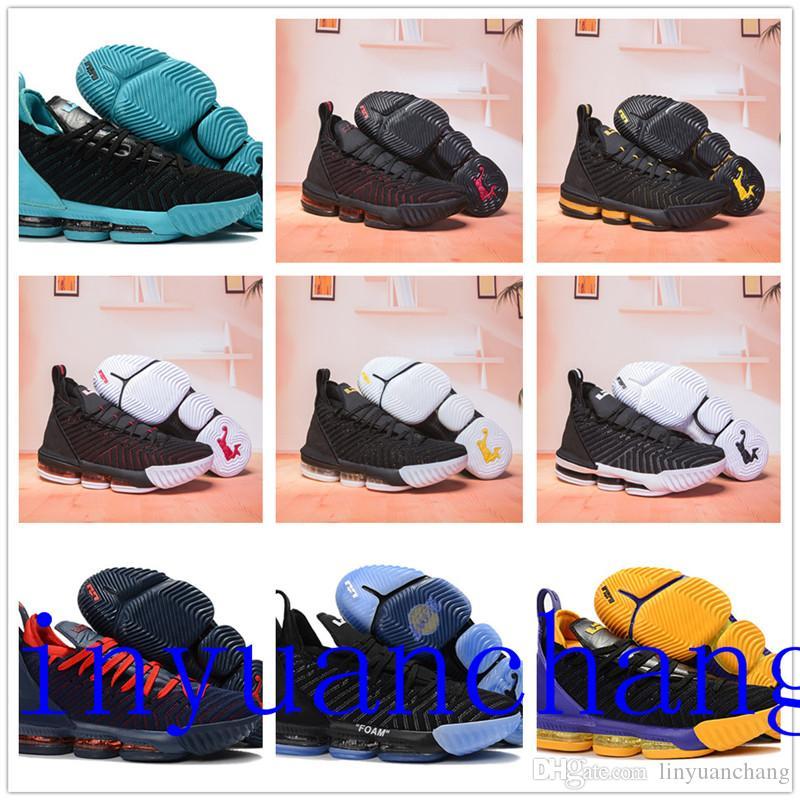 7e9b80a82a24 Satın Al 2018 Lebron 16 Açık Ayakkabı James 16 Açık Ayakkabı Lbj 16 Koşu Ayakkabıları  Boyutu Us7 Us12 Kutusu Ile
