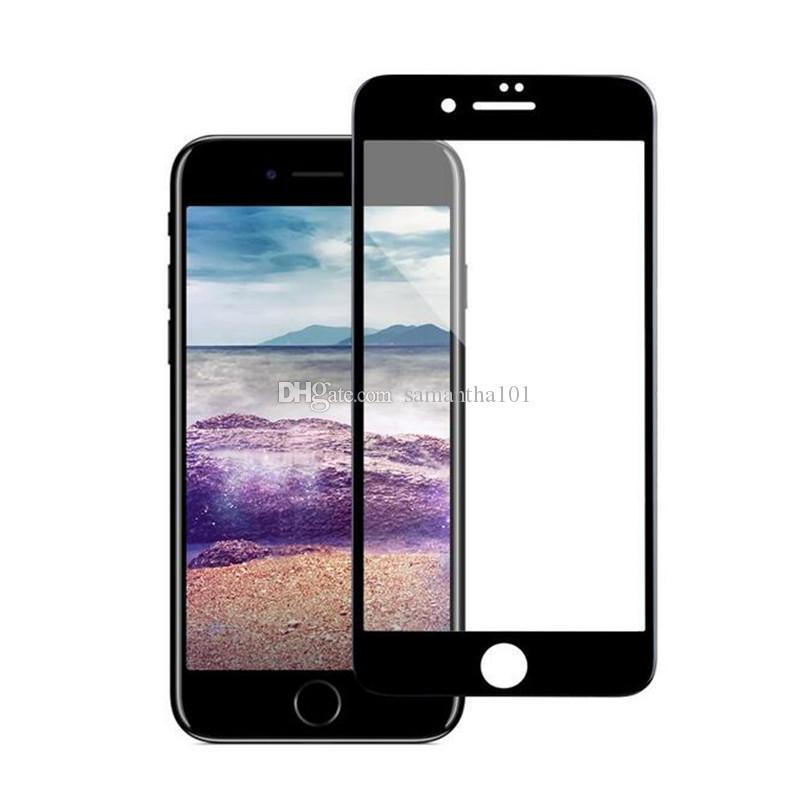 49a9e87a800 Protector De Celular 9H Dureza 4D Borde Curvo De Vidrio Templado De Tapa  Completa Para IPhone 6 6Plus 7 8 Plus X Glass Film Protector De Película  Como Hacer ...