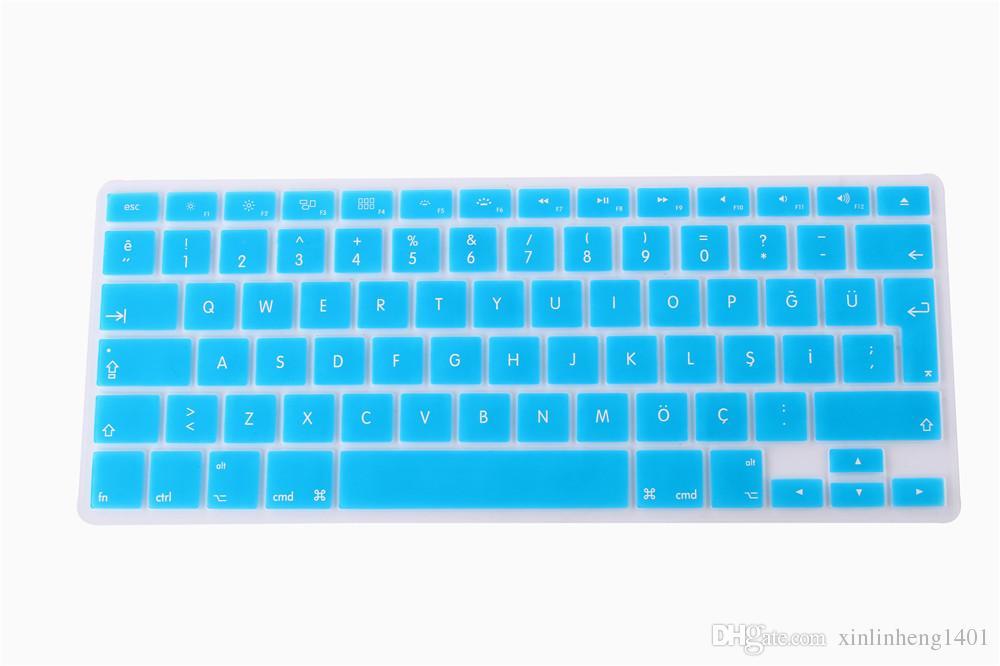 MacBook Keyboard Cover Schutz Silikon Material für Mac Air Pro Retina 11/12/13/15/17 Zoll wasserdicht staubdicht für uns UK-Version
