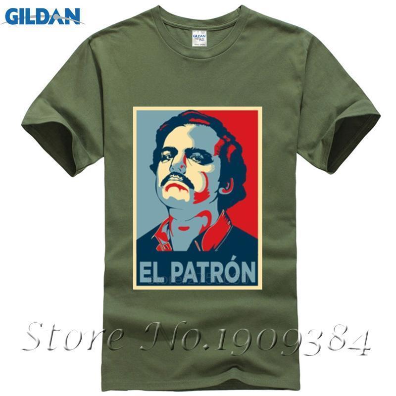 b6c665328adc Acquista Camicia Nera Pablo Escobar El Patron Mens Maglietta T Shirt A  Manica Corta Girocollo A Maniche Corte Da Uomo Di Alta Qualità A  12.08 Dal  ...