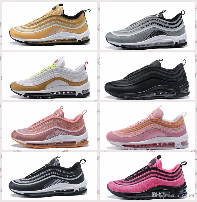 Top Quality Men Women 97 Running Shoes Cushion OG Silver Gold Anniversary Edition Sneakers 97S Scarpe Uomo Athletic Sports Trainers footlocker finishline for sale KhEkziG