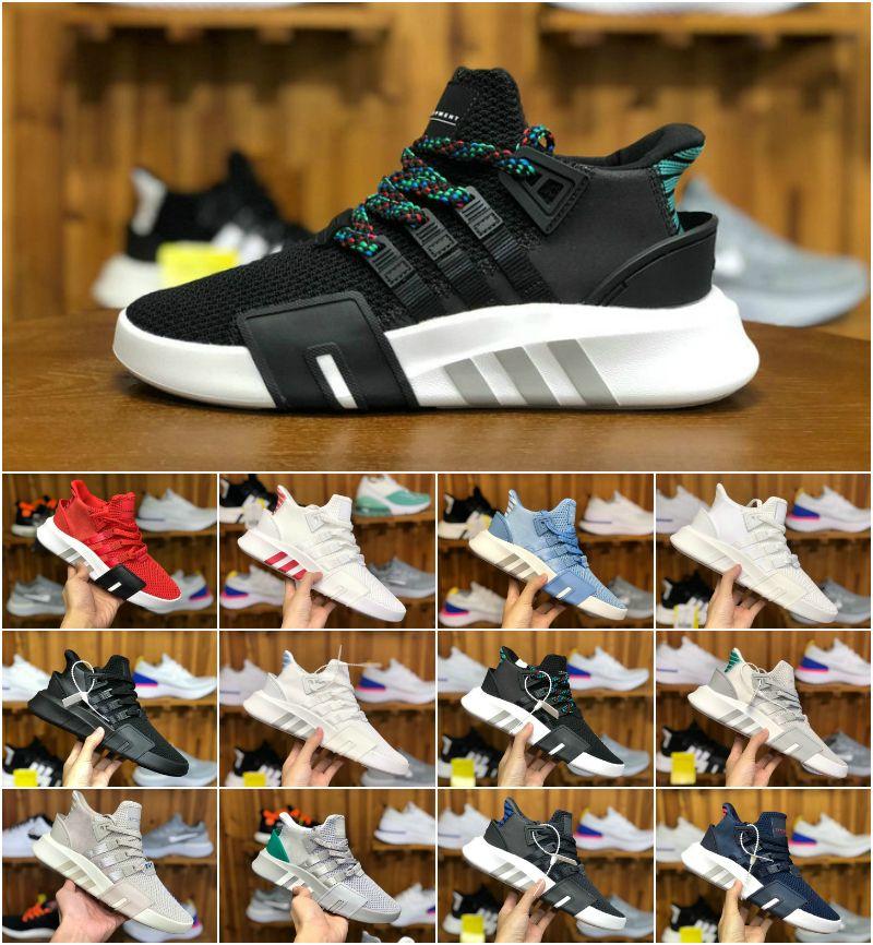 5308cd73f715 Acheter 2018 New EQT Bask Support Basketball Mid Hommes Chaussures De  Course Pas Cher EQTADV Chaussures Designer Femmes Future 93 17 Trpile Noir  EQT Baskets ...