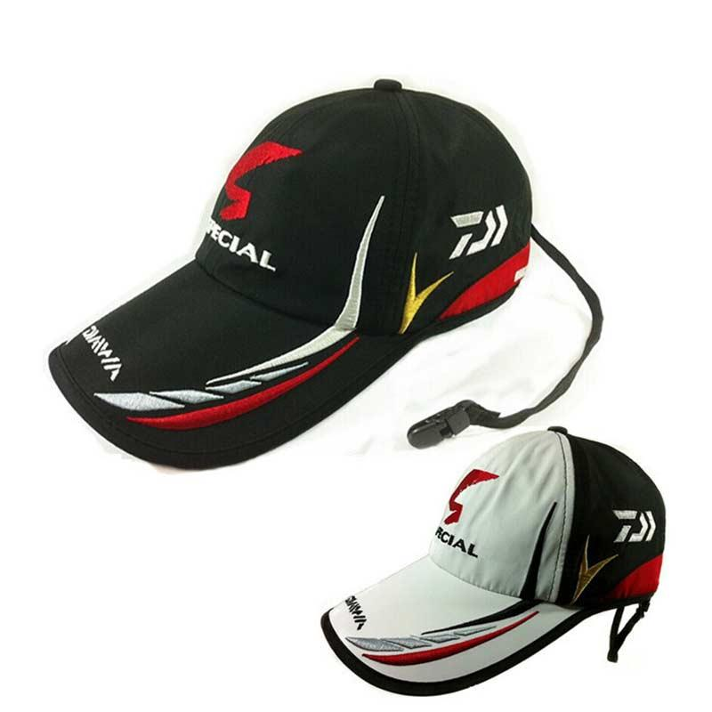 ddcbcbc353318 2019 Adult Men Adjustable Breathable Fishing Daiwa Japan Sunshade Sport  Baseball Fishermen Hat Cap Black Special Bucket Hat With Logo From Huiqi02