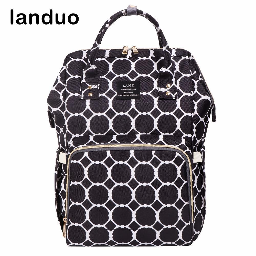 2019 Landuo Nappy Bag Fashion Diaper Bag Mummy Maternity Designer Stroller  Baby Care Nursing Waterproof Abric From Callshe c94f2f614d430