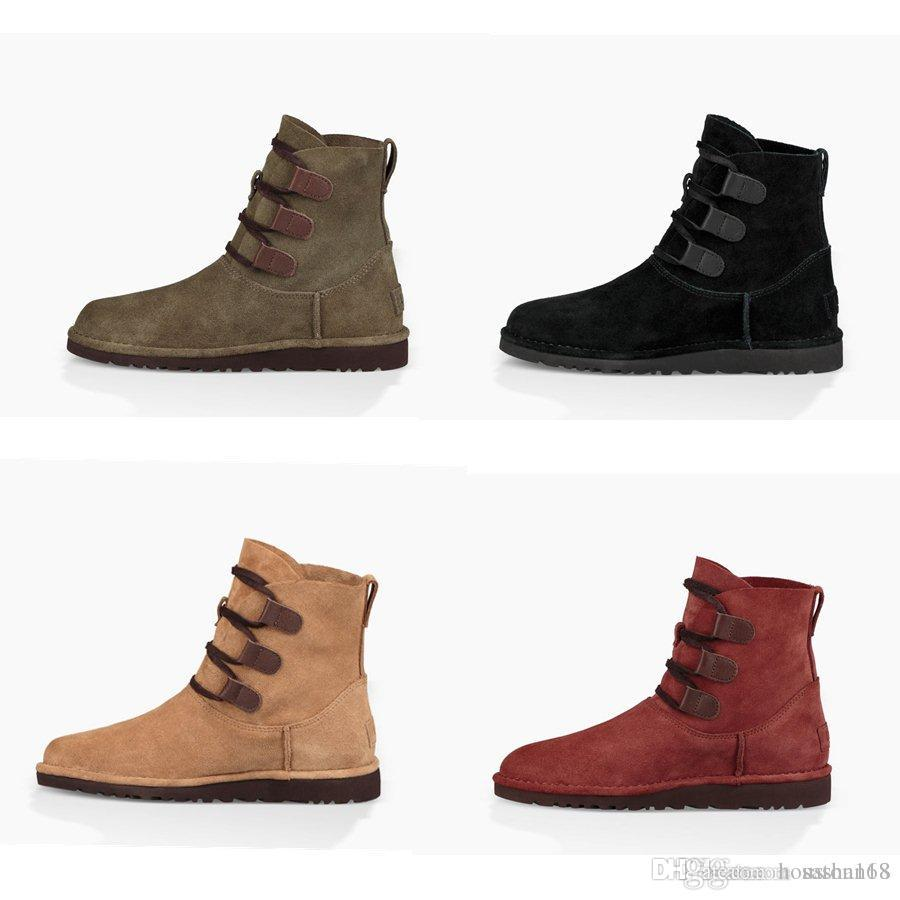 Hot Snow Ugs Women Snow Hot Boots Classic Style Cow Suede Leather Waterproof ... 0591a5