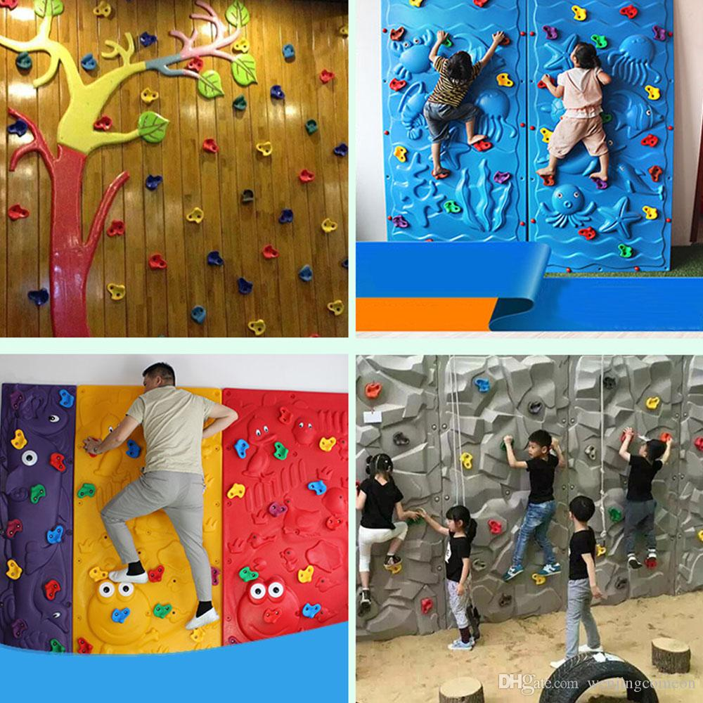 Plastic Climbing Wall Rock Holds Outdoor Toy Set Kits Rock Climbing Stone Training Playing Outside Adult Outdoor Toy