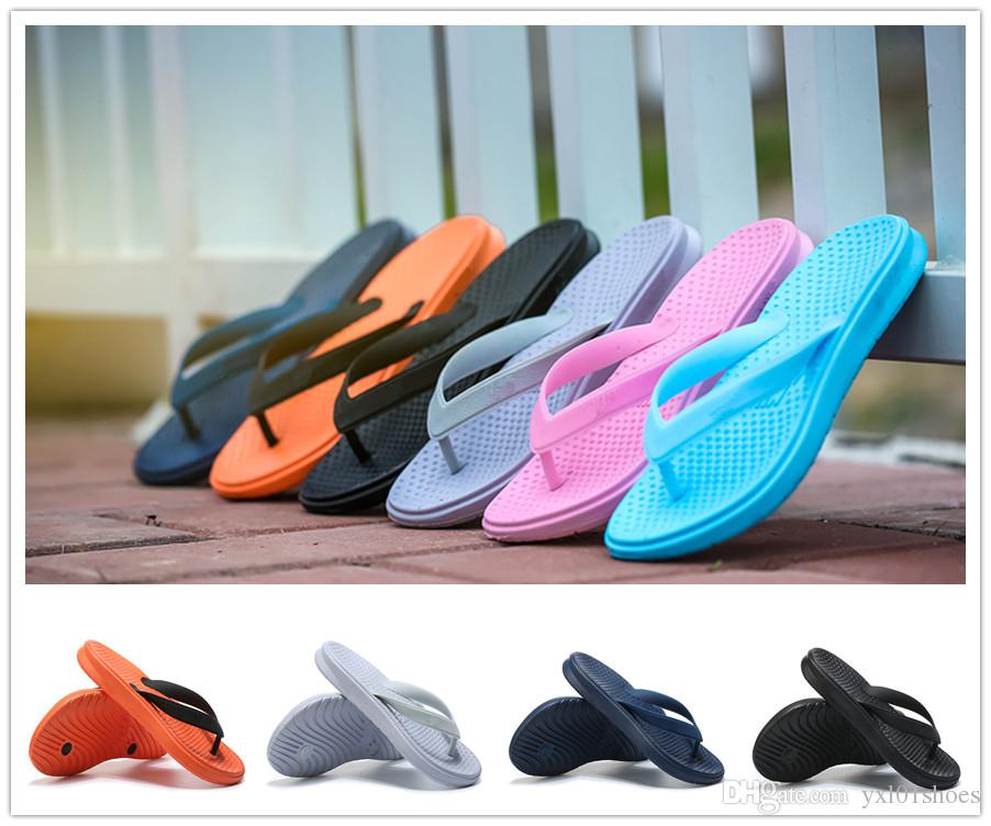 f6622849fc9 2018 New Arrival Flip-flops Summer Air Beach Shoes for High Quality Blue  Pink Orange Men Women Fashion Slipper Outdoors Size 36-44 Flip-flops Summer  Air ...