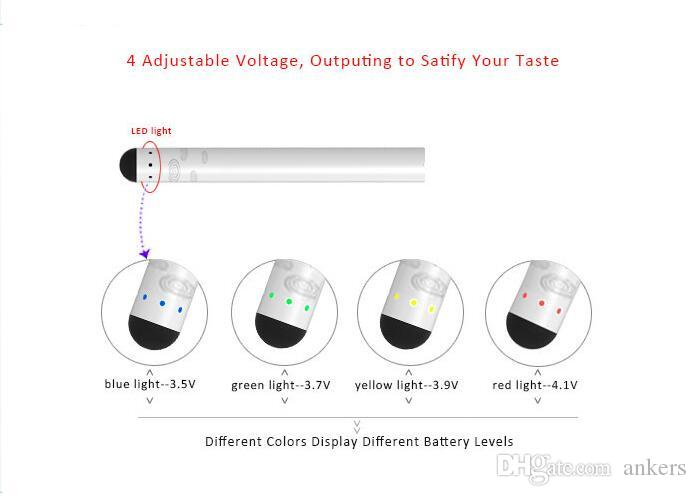 e-cigarette battery small 280mah bud touch China wholesale Best quality rohs vape pen 4 steps adjustable voltage USB quick charger