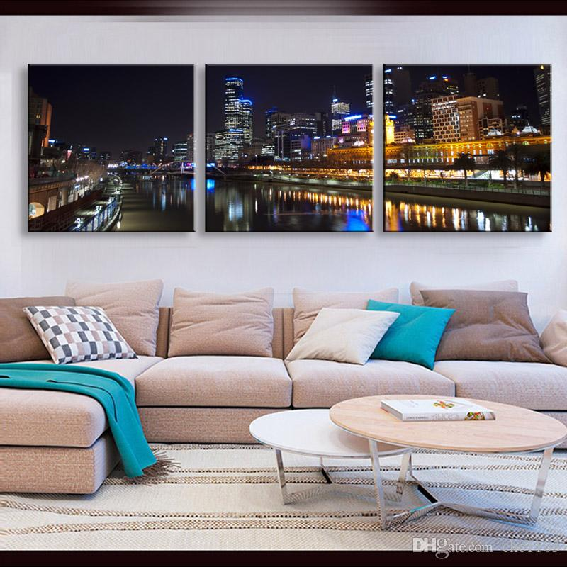 high-definition print night view canvas prints painting poster and wall art living room picture CSYJ3-009