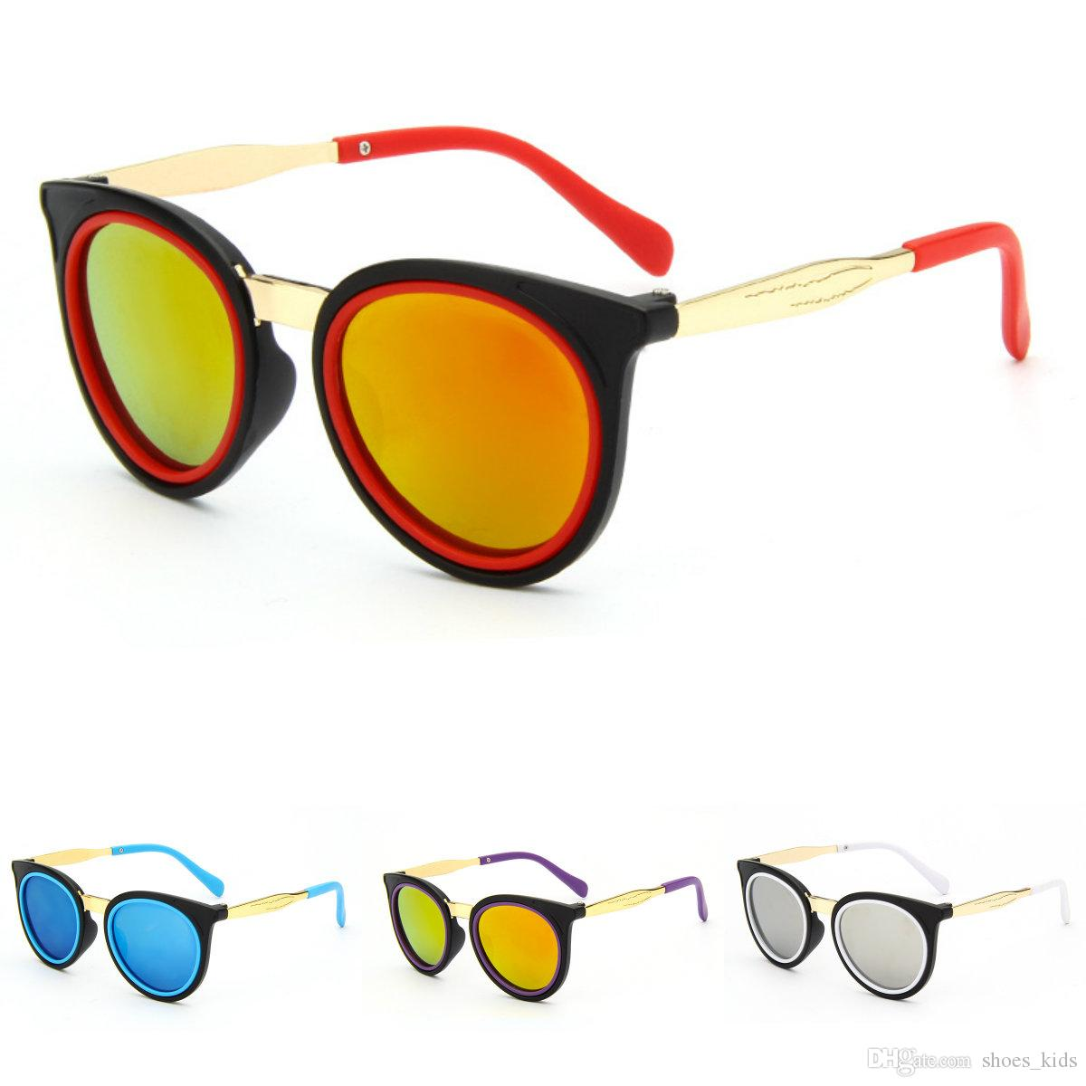 2018 New Kids Sunglasses Fashion Boy And Girls Eyegalsses Youth Glasses  Frame Clear Lenses For Children's Glasses Blue Red SJ803 Kids Sunglasses  Youth ...