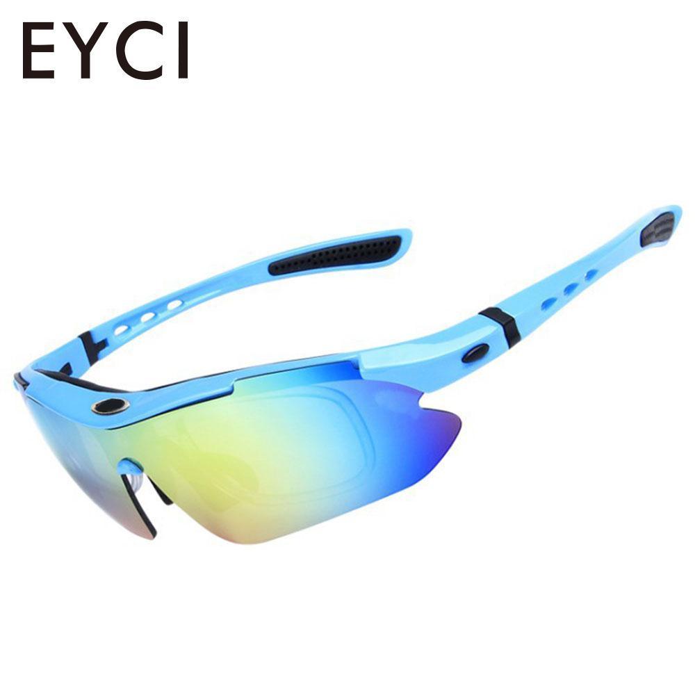f96d4b7c5e Goggles Anti Glare PC A Prueba De Viento Deportes Al Aire Libre Escalada  Gafas De Sol De Montaña 5 Lentes Anti UV Senderismo Por Enhengha, ...