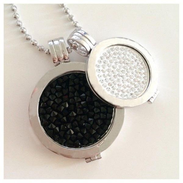 Vinnie design jewelry my coin pendant necklace with crystal coins vinnie design jewelry my coin pendant necklace with crystal coinscoin holders and 80cm ball chain necklace pendant holder pendant bag pendants personalized aloadofball Images
