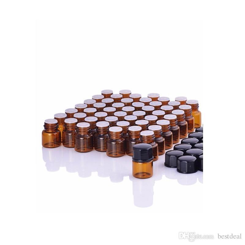 1ml Amber Glass Bottle For Essential Oils Mini Refillable Sample Oil Bottles 1CC Amber Sample Vial,Small Essential Oil Bottle BY DHL/EMS